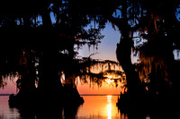 December - Lake Fausse, Louisiana Sunset